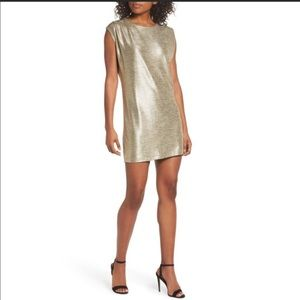 Knot Sisters Gold Disco Dress